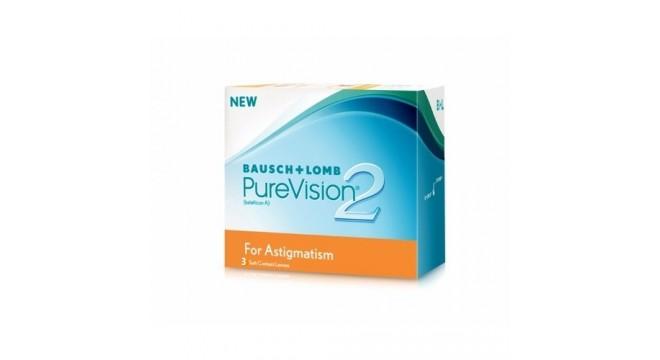 لنز طبی آستیگمات پیورویژن purevision2 Astigmatism Toric